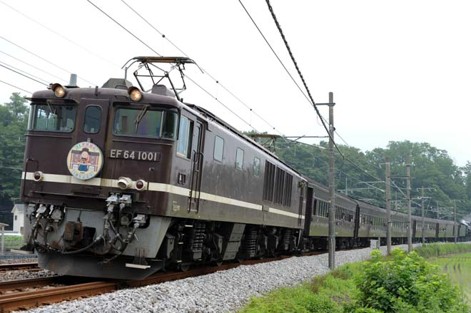 EF64 1001 + 旧型客車 EL世界遺産1周年記念号(9135レ)