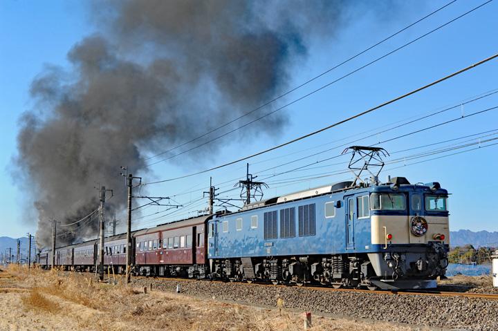 D51 498 + 旧型客車6B + EF64 1001(鬼滅の刃HM) SLぐんまよこかわ(9135レ)[後追い]